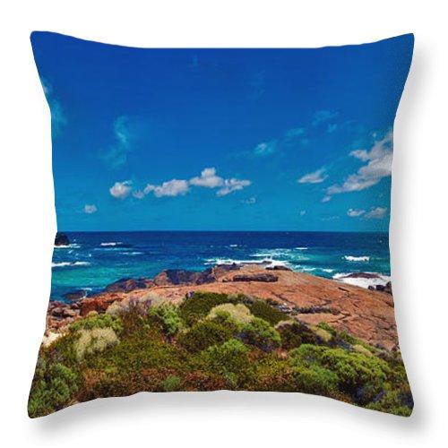Boodjidup Beach Throw Pillow featuring the photograph Western Australia Beach Panorama by David Zanzinger
