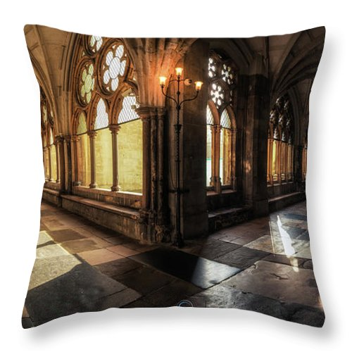 Westminster Throw Pillow featuring the photograph Westminster Abbey by Sergio Nevado