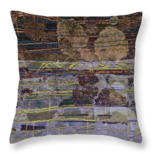 Mountain Throw Pillow featuring the digital art Westmorland 2 by Andy Mercer