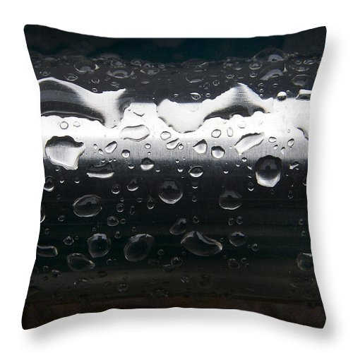 Steel Throw Pillow featuring the photograph Wet Steel-1 by Steve Somerville