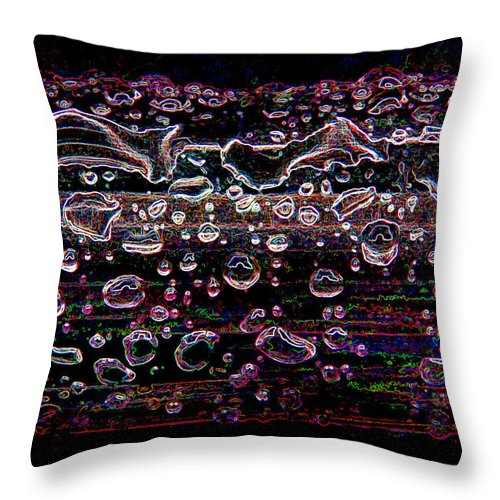 Digital Throw Pillow featuring the photograph Wet Steel Funky by Steve Somerville