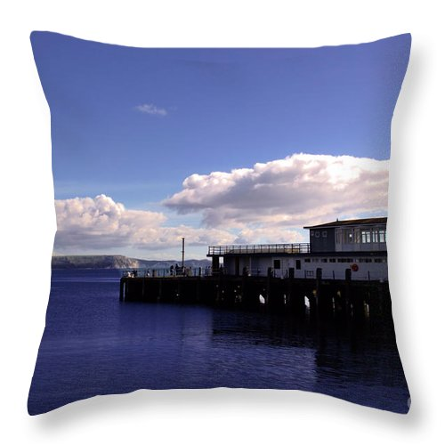 Weymouth Throw Pillow featuring the photograph Weymouth Pier by Baggieoldboy