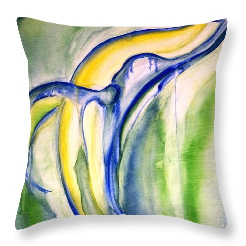 Watercolor Throw Pillow featuring the painting Whale by Sheridan Furrer