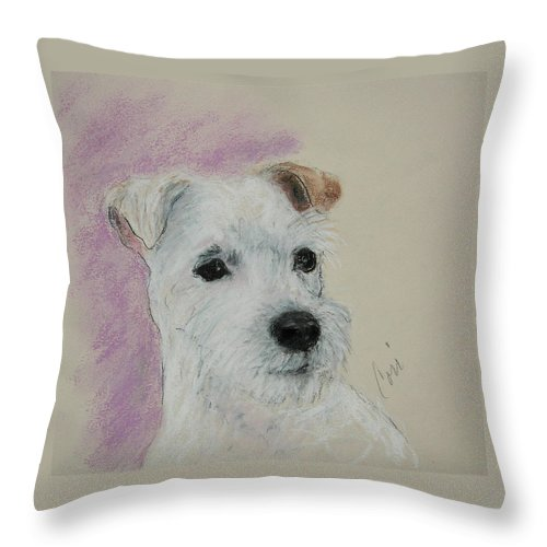 Pastel Throw Pillow featuring the drawing What A Riot by Cori Solomon