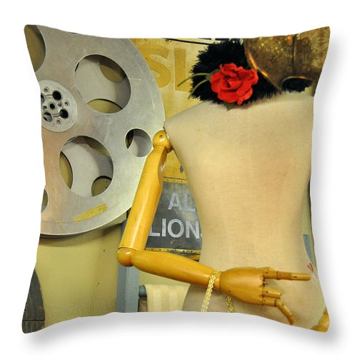 Still Life Throw Pillow featuring the photograph What A Time That Was by Jan Amiss Photography