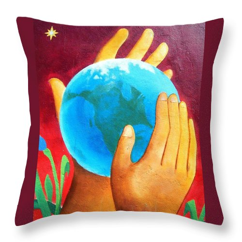 Wonderful Throw Pillow featuring the photograph What a Wonderful World ... by Juergen Weiss