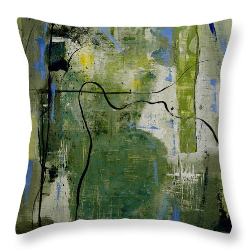 Abstract Throw Pillow featuring the painting What Counts Is A New Creation by Ruth Palmer