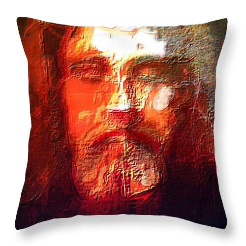 Art Throw Pillow featuring the painting What Did Jesus Look Like by Larry Lamb