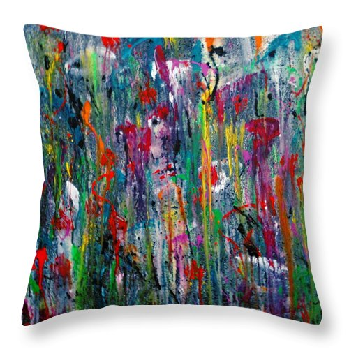 Dreams Throw Pillow featuring the painting What Dreams Are Made Of by Natalie Holland