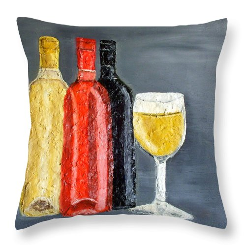 Still Life Paintings Throw Pillow featuring the painting What Flavor Would You Like by Leslye Miller