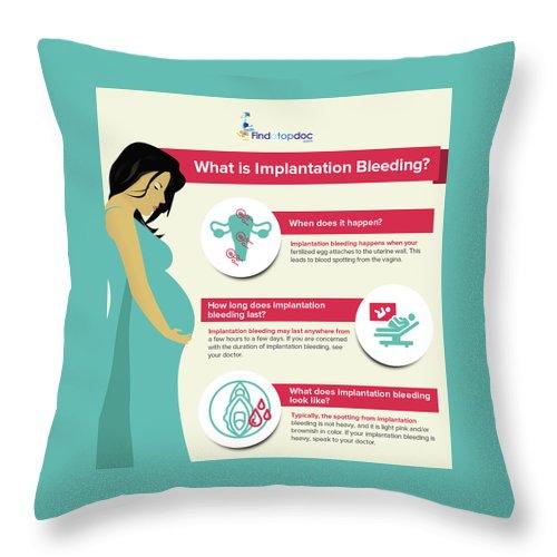 What Is Implantation Bleeding? Throw Pillow