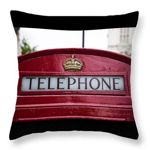 Telephone Booth Throw Pillow featuring the photograph What Is That? by Billy Soden