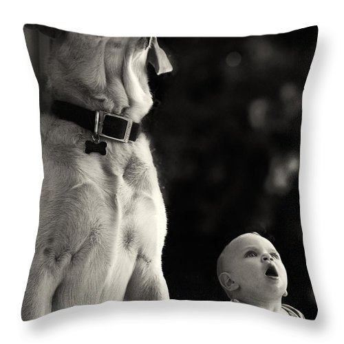 Child Throw Pillow featuring the photograph What Is That by Stelios Kleanthous