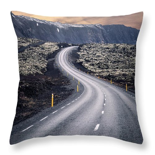 Kremsdorf Throw Pillow featuring the photograph What Lies Ahead by Evelina Kremsdorf