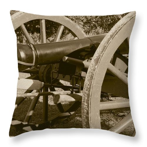 Sepia Throw Pillow featuring the photograph What Made The Difference by David Dunham