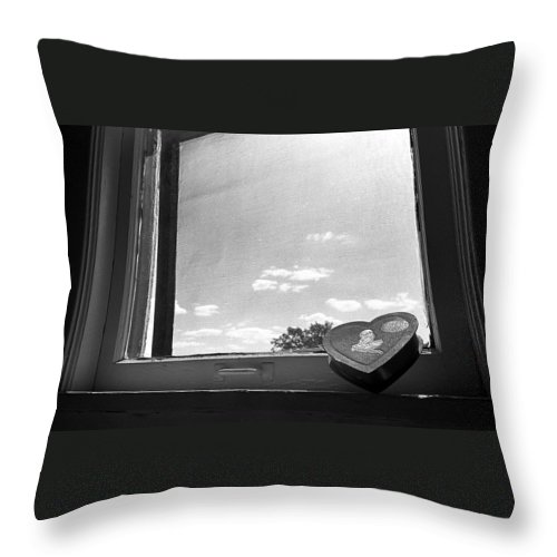 Window Throw Pillow featuring the photograph What Remains by Ted M Tubbs