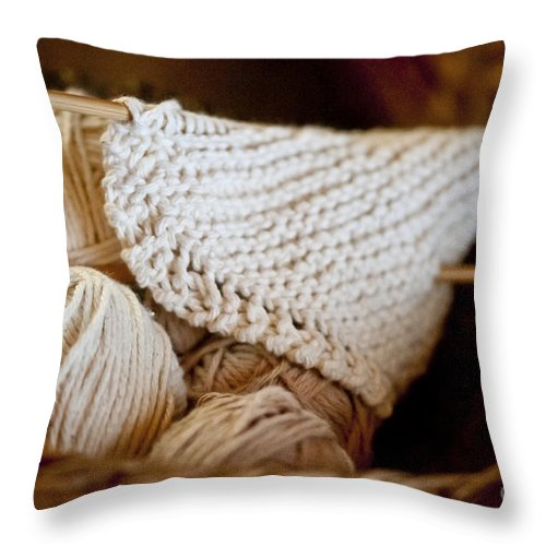 Yarn Throw Pillow featuring the photograph What Will It Be by Wilma Birdwell