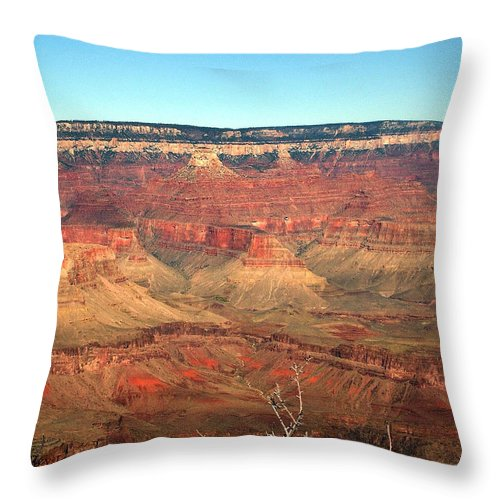 Grand Canyon Throw Pillow featuring the photograph Whata View by Shelley Jones