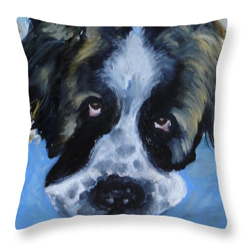 Dog Throw Pillow featuring the painting Whats Up by Laura Leigh McCall