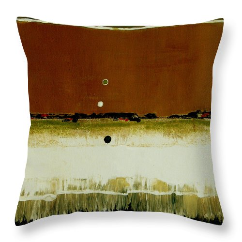 Abstract Throw Pillow featuring the painting Whats Your Line by Ruth Palmer