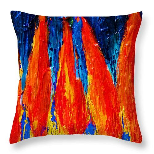 Wheat Throw Pillow featuring the painting Wheat Field by Noga Ami-rav