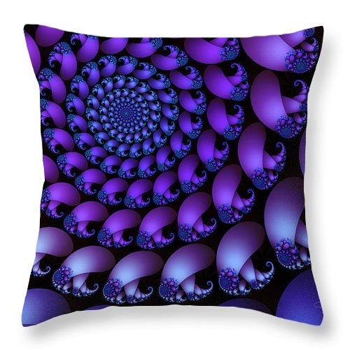 Fractal Throw Pillow featuring the digital art Wheel Of Fortune by Jutta Maria Pusl