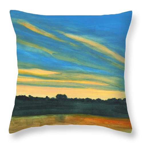 Ohio River Throw Pillow featuring the painting Wheeling Waterfront by David Bartsch