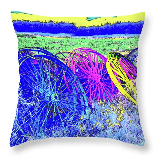 Al Bourassa Throw Pillow featuring the photograph Wheels by Al Bourassa