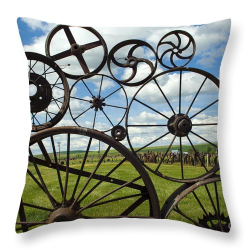 Wheels Throw Pillow featuring the photograph Wheels by Louise Magno