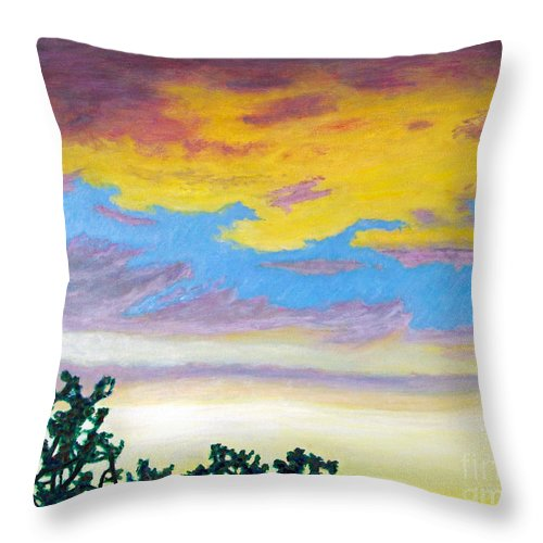 Skyscape Throw Pillow featuring the painting When I'm Gone by Brian Commerford