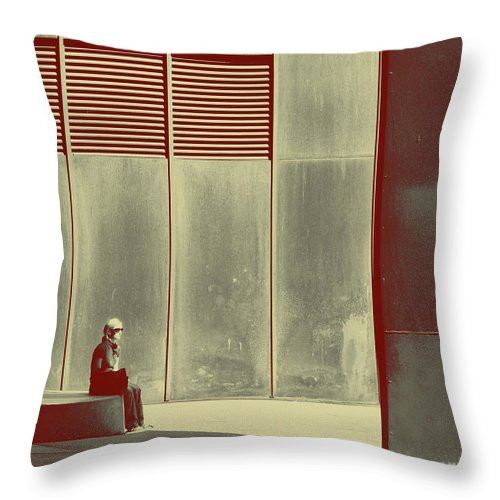Alone Throw Pillow featuring the photograph When Shes Gone by Dana DiPasquale