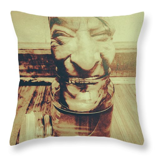 Horror Throw Pillow featuring the photograph When The Monsters Come Out To Play by Jorgo Photography - Wall Art Gallery