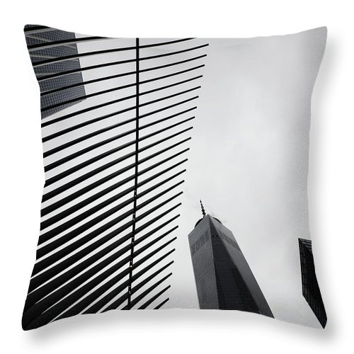 New York Throw Pillow featuring the photograph When We Strived by The Artist Project