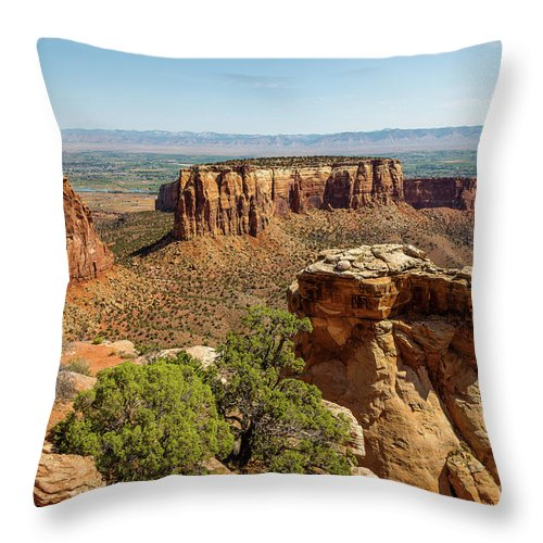 Jon Burch Throw Pillow featuring the photograph Where Eagles Soar by Jon Burch Photography