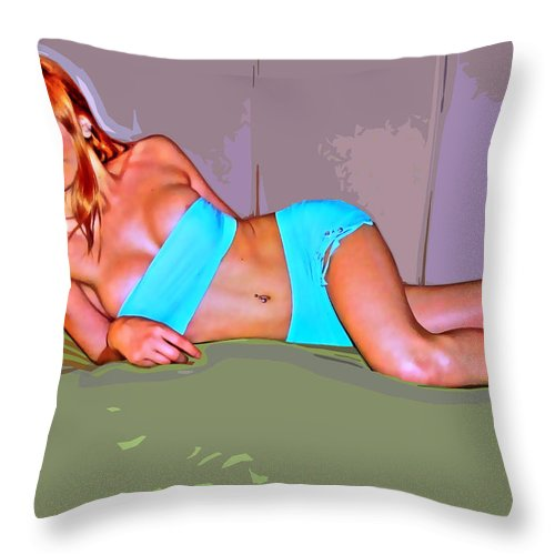 Women Throw Pillow featuring the photograph Where by Francisco Colon