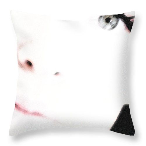 Face Throw Pillow featuring the photograph Where Is The Soul by Amanda Barcon