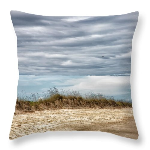 Huntington Beach Throw Pillow featuring the photograph Where The Sea Turtles Nest by Christine Martin-Lizzul