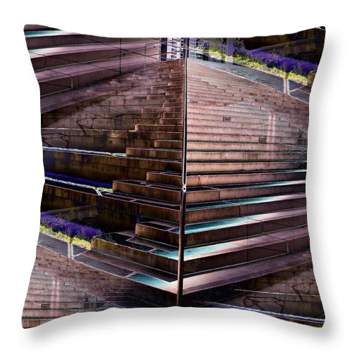Court House Throw Pillow featuring the photograph Which Way Up 2 by Tim Allen