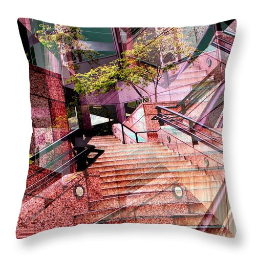 Stairs Throw Pillow featuring the photograph Which Way Up by Tim Allen