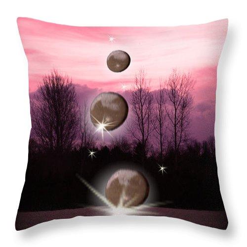 Sleep Throw Pillow featuring the digital art While We Sleep by Cathy Beharriell