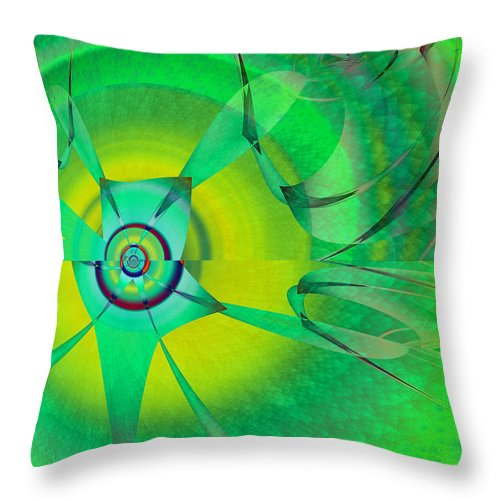 Whimsical Throw Pillow featuring the digital art Whimsical by Frederic Durville