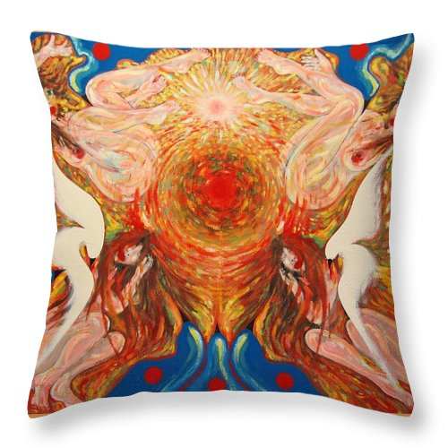 Imagination Throw Pillow featuring the painting Whirl by Wojtek Kowalski