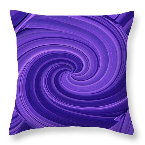 Whirlpool Throw Pillow featuring the photograph Whirlpool Blues by Tim Allen