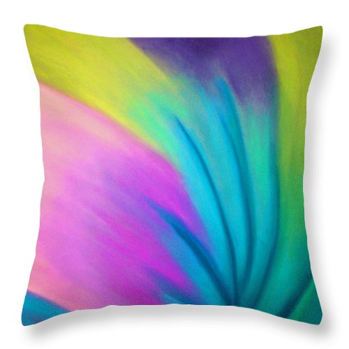Pastel; Colors; Abstract Drawing Throw Pillow featuring the drawing Whirlwind by Jan Gilmore