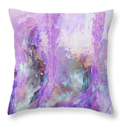Abstract Art Throw Pillow featuring the digital art Whisper Softly by Linda Murphy