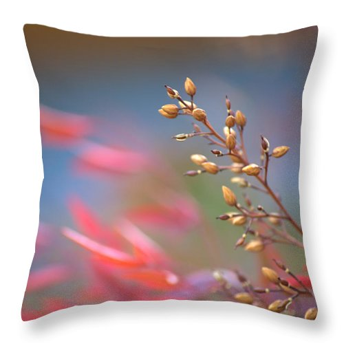 Red Throw Pillow featuring the photograph Whispers In The Wind by Mark Bell