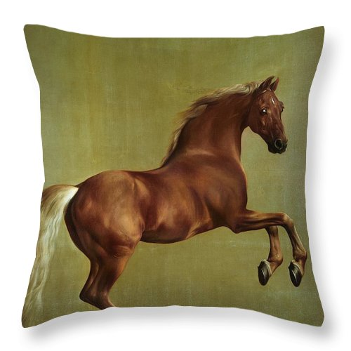Whistlejacket Throw Pillow featuring the painting Whistlejacket by George Stubbs