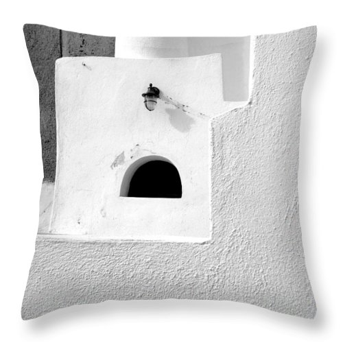 White Throw Pillow featuring the photograph White Abstract by Ana Maria Edulescu