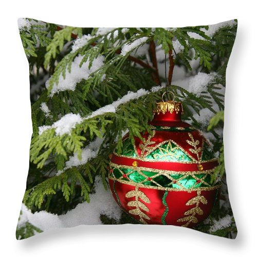 Christmas Throw Pillow featuring the photograph White Christmas II by Winston Rockwell