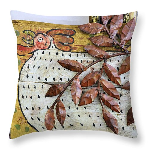 Still Life Throw Pillow featuring the photograph White Ckicken by Jan Amiss Photography